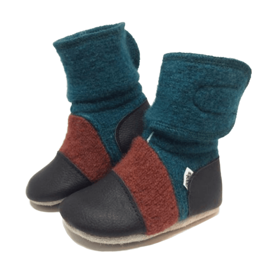 Mistral Felted Wool Booties - Stork Post