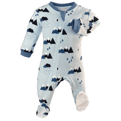 """Little Adventurer"" Organic Cotton Footed Pajamas - Stork Post"
