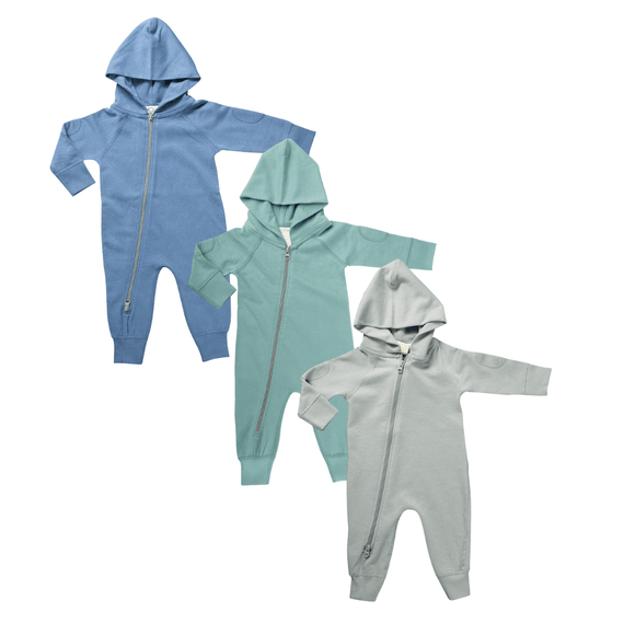 Organic Cotton Winter Zipsuit - Stork Post