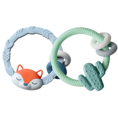 Silicone Teether Rattle - Stork Post