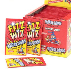 FIZZ WIZ STRAWBERRY POPPING CANDY x50