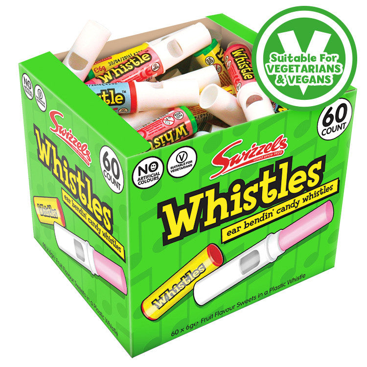 SWIZZELS CANDY WHISTLES x60