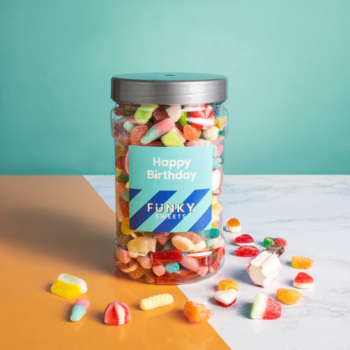 Happy Birthday Blue -  Pick n Mix Jar