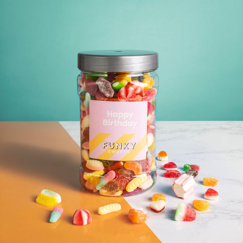 Happy Birthday Pink - Pick n Mix Jar