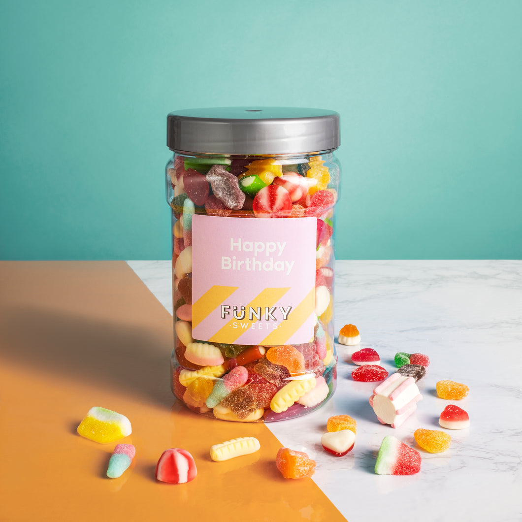 Happy Birthday - Pink  Pick n Mix Jar