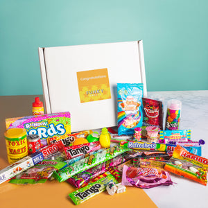 Retro Sweet Box - Congratulations Yellow