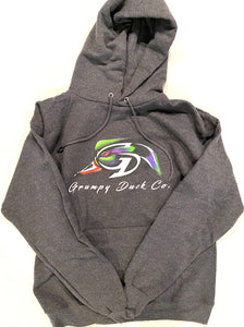 Charcoal Hanes Ultimate Cotton Hoodie w/ Full Color Logo