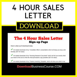 4 Hour Sales Letter FREE DOWNLOAD