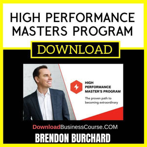 Brendon Burchard High Performance Masters Program FREE DOWNLOAD