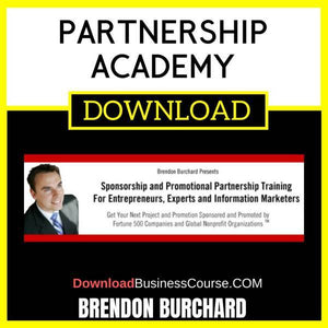 Brendon Burchard Partnership Academy FREE DOWNLOAD