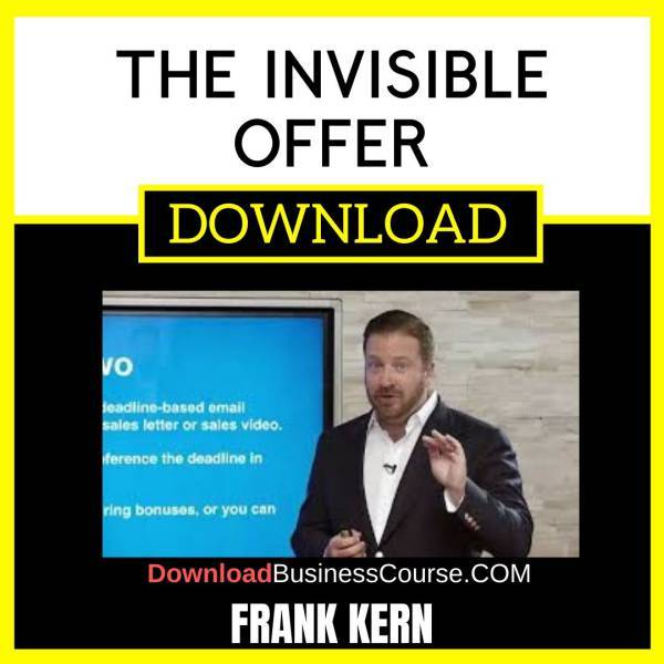 Frank Kern The Invisible Offer FREE DOWNLOAD