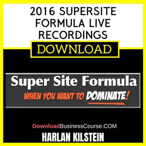 Harlan Kilstein 2016 Supersite Formula Live Recordings FREE DOWNLOAD