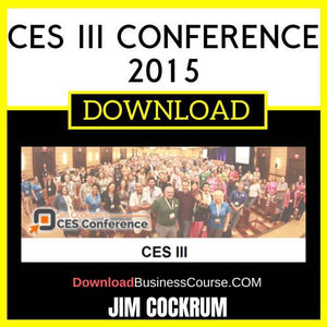 Jim Cockrum Ces Iii Conference 2015 FREE DOWNLOAD