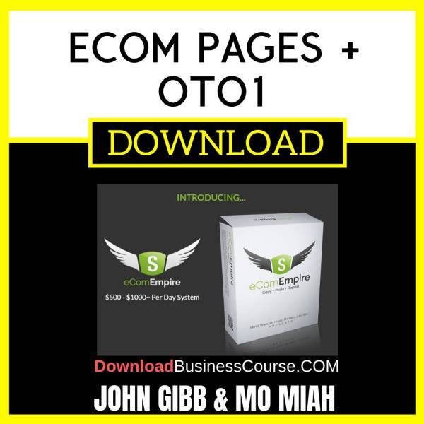 John Gibb And Mo Miah Ecom Pages + Oto1 FREE DOWNLOAD