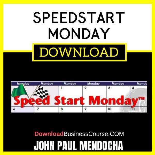 John Paul Mendocha Speedstart Monday FREE DOWNLOAD