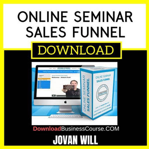 Jovan Will Online Seminar Sales Funnel FREE DOWNLOAD