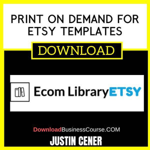 Justin Cener Print On Demand For Etsy Templates FREE DOWNLOAD