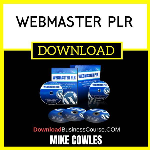 Mike Cowles Webmaster Plr FREE DOWNLOAD