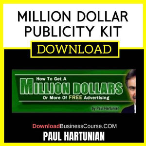 Paul Hartunian Million Dollar Publicity Kit FREE DOWNLOAD