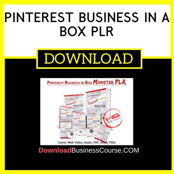 Pinterest Business In A Box Plr FREE DOWNLOAD