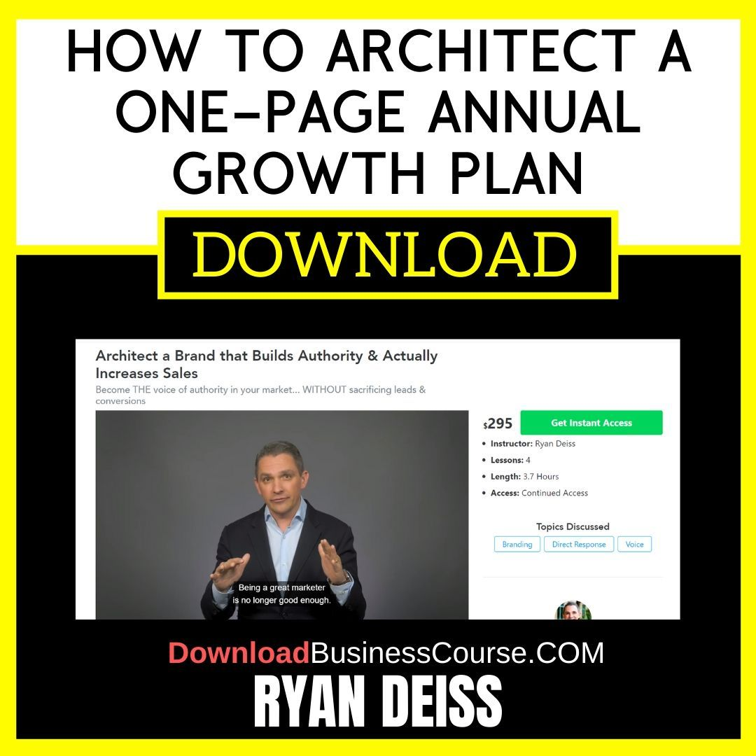 Ryan Deiss How to Architect a One-Page Annual Growth Plan FREE DOWNLOAD