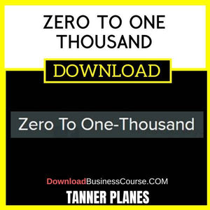 Tanner Planes Zero To One Thousand FREE DOWNLOAD