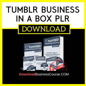 Tumblr Business In A Box Plr FREE DOWNLOAD