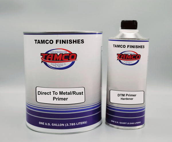 Direct to Metal & Rust 2K Black Urethane Primer Kit