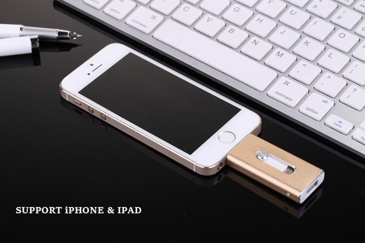 ICool™ 3-in-1 USB Flash Drive For IPhone & Android