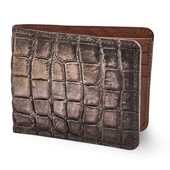 Brown Alligator skin wallet for men