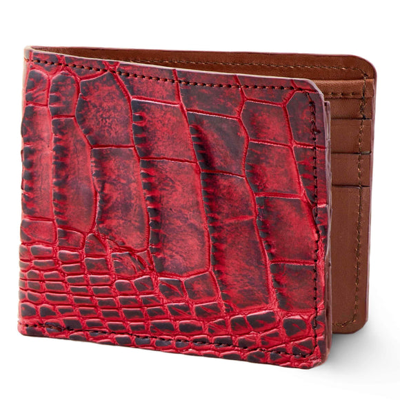 Black and Red alligator skin wallet