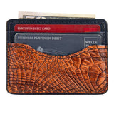 Slim alligator wallet for men
