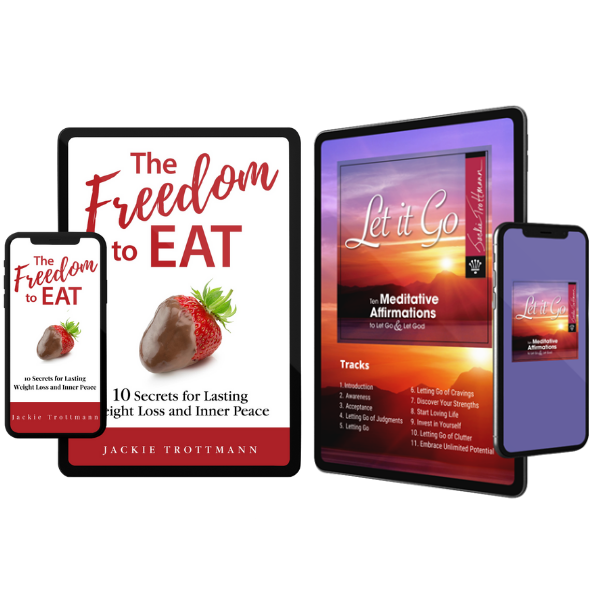The Freedom to Eat Book and Let It Go Meditation Affirmations Digital Downloads