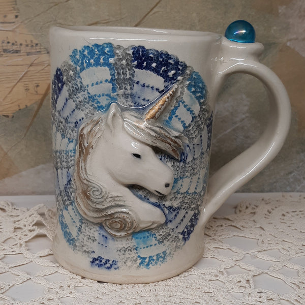 Unicorn mug with crystal