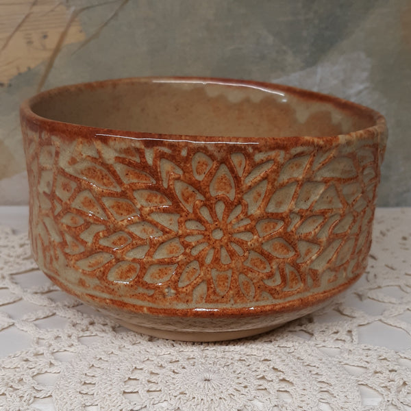 Tan Decorated Bowl