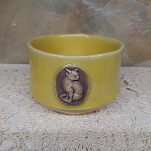 Cat Cameo Small Bowl