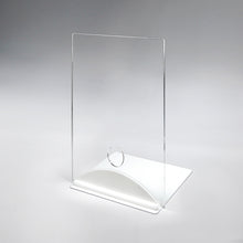 Load image into Gallery viewer, Acrylic/Plexiglass Table Top Sneeze Guard with White Arch Base