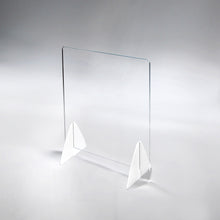 Load image into Gallery viewer, Acrylic/Plexiglass Panel Table Top Sneeze Guard With Triangle Legs