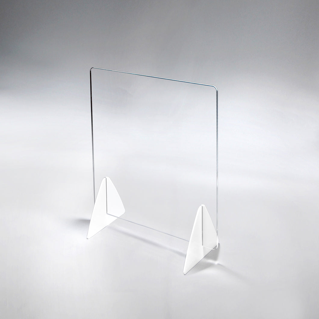 Acrylic/Plexiglass Panel Table Top Sneeze Guard With Triangle Legs