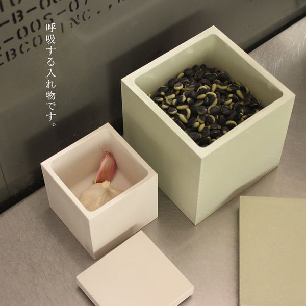 soil Food Container square 珪藻土食品收納桶 (方型)
