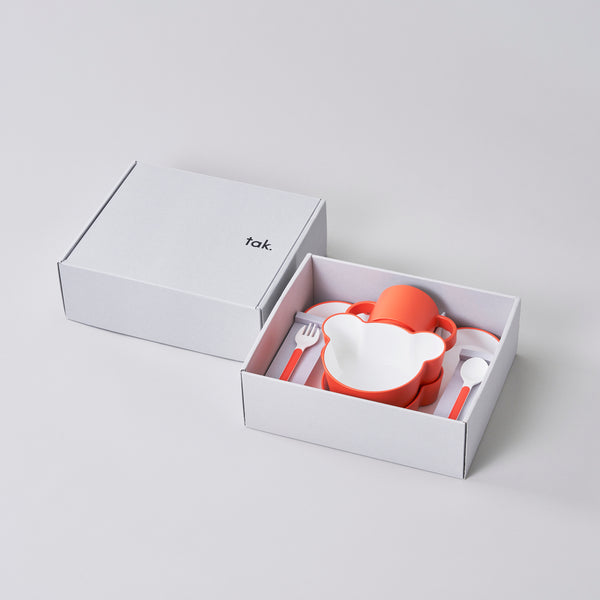 KIDS DISH gift box bear cutlery 小熊造型餐具禮盒