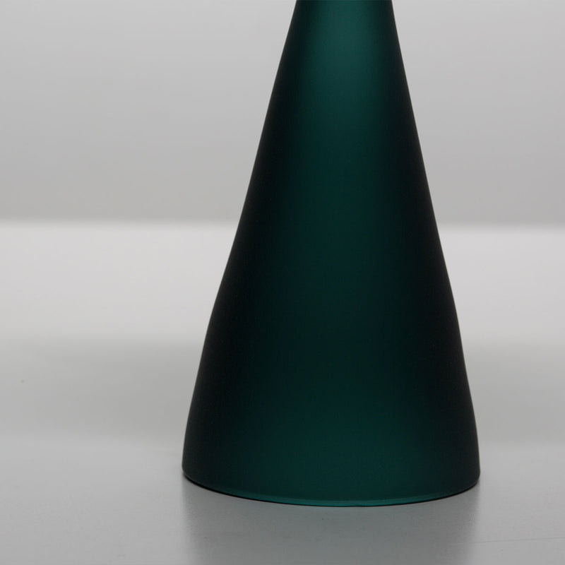 Glass Incense Burner frosted teal green
