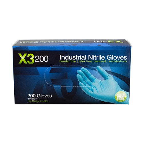 AMMEX X3D Blue Nitrile Gloves - Global Beauty Supply