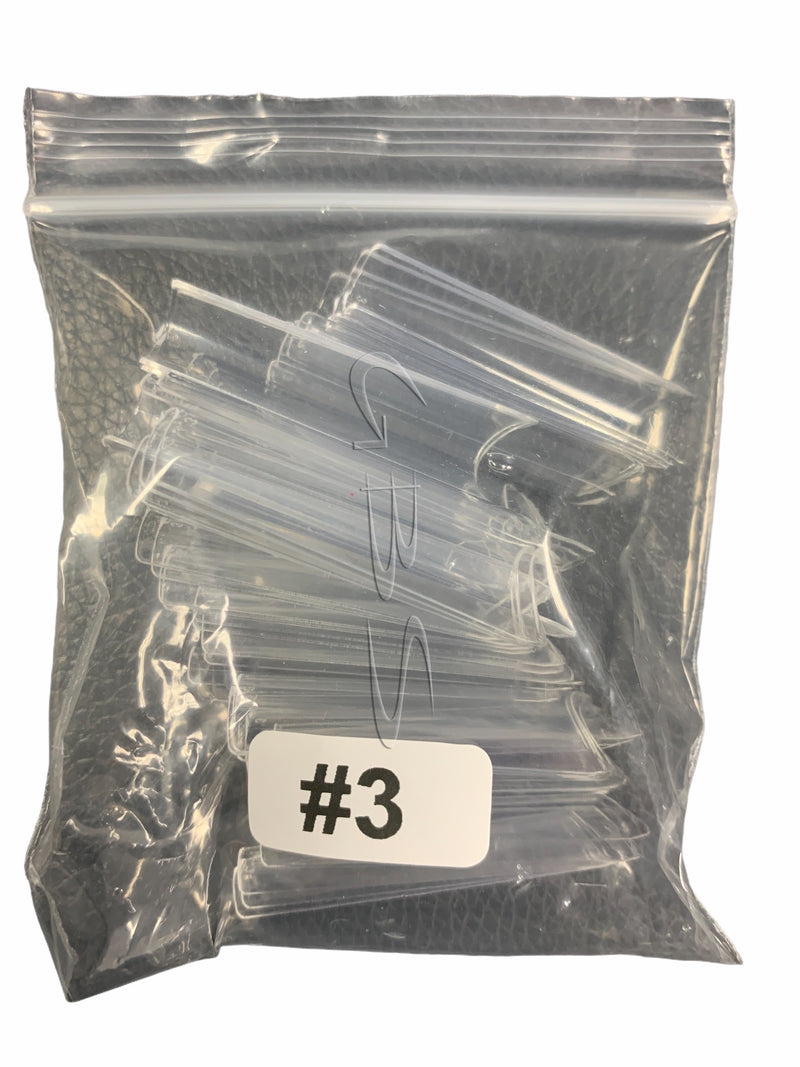 Straight CLEAR Nail Tips 50ct/bag