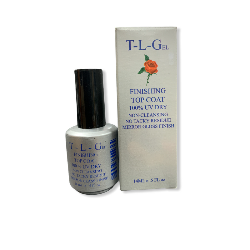 T-L-Gel Finishing Top Coat Non Wipe (Silver Bottle)