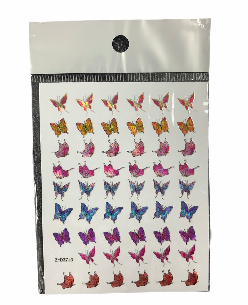 Butterflies Nail Sticker 9250-710