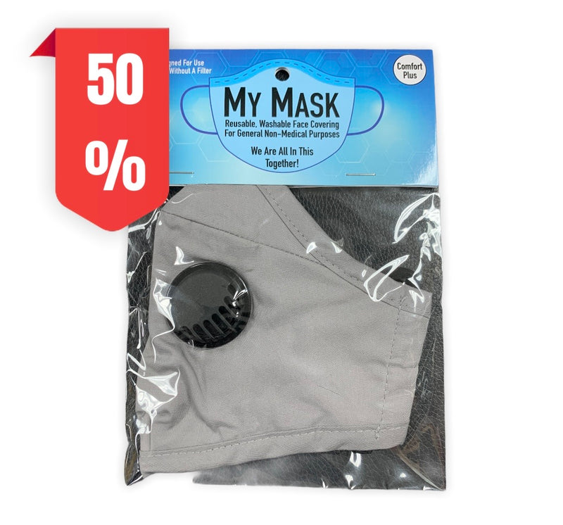 My Mask Comfort Plus with Filter: Grey