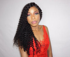 Island Curly Lace Frontal wig