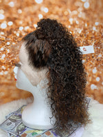 Curly Wig Ginger 13x4 Lace Frontal