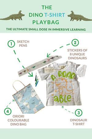 Load image into Gallery viewer, The Dino T-Shirt – PlayBag<br/>Naturalist Collection